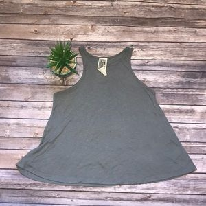 We the Free People Gray Tank Top Size Medium